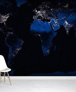 Night-time World Wallpaper Mural
