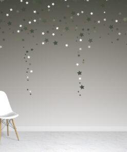 Ombre Green Stars Wallpaper Mural