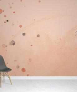 Peach Splats Wallpaper Mural