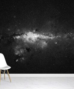 Nebula Star Black Mural
