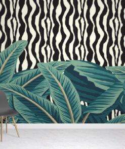 Tropical Zebra Wallpaper Mural