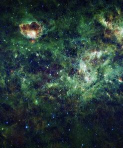 Green Milky Way Wallpaper Mural