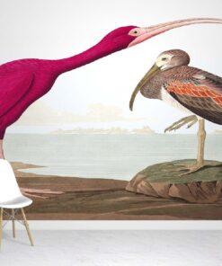 Scarlet Ibis Wallpaper Mural