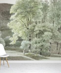 Trees watercolour wallpaper