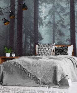 Misty Trees Wallpaper Mural