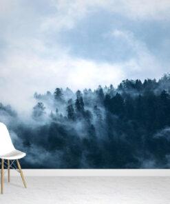 Misty Forest Wallpaper Mural