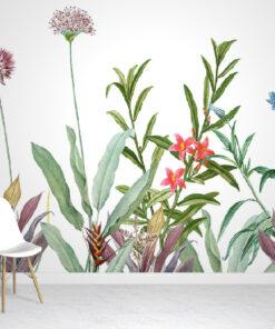 Botanical wallpaper mural