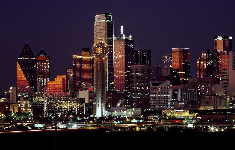 Texas skyline wallpaper mural