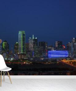 Texas blue skyline wallpaper mural