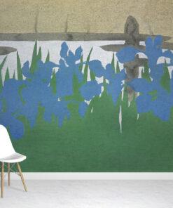 Japanese Irises Wallpaper Mural