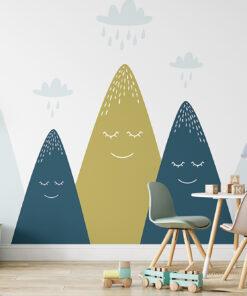 Cool mountains kids wallpaper mural