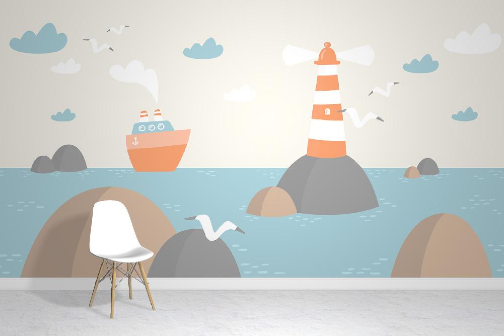 Lighthouse Wallpaper Mural