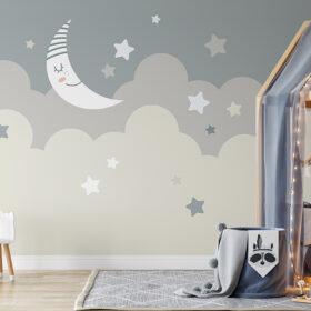 moon stars wallpaper mural