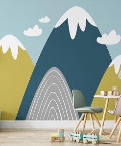 colour mountains wallpaper mural
