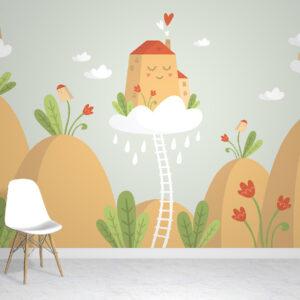 flower hills kids wallpaper mural