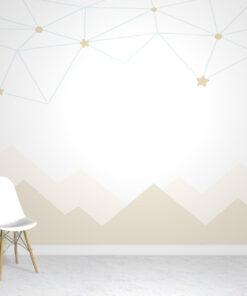 Mountain stars wallpaper mural