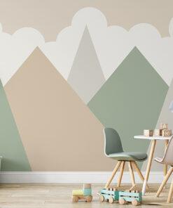 Natural mountains wallpaper mural