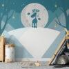 night forest kids wallpaper mural