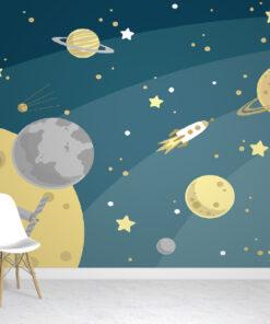 planets kids wallpaper mural