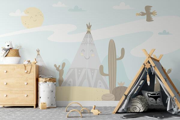 Wigwam Desert Wallpaper Mural